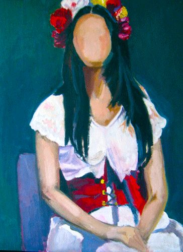 Frida Without a Face | 11 x 14 Oil on Canvas Board
